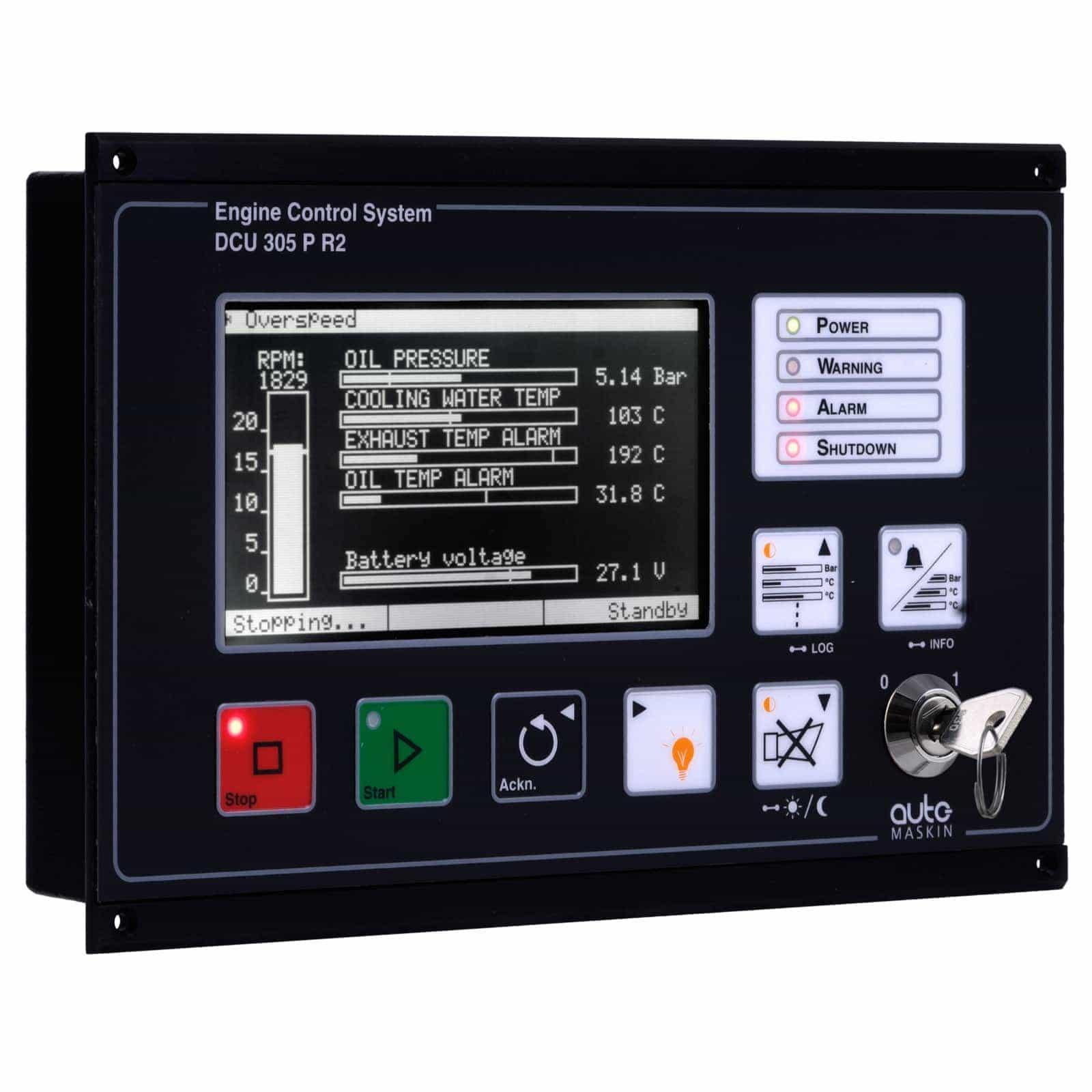 Engine Control Console : Dcu r engine controller auto maskin